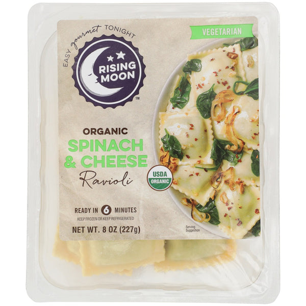 RISING MOON: Organic Spinach and Cheese Ravioli, 8 oz
