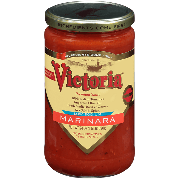 VICTORIA: Low Sodium Marinara Sauce, 24 oz
