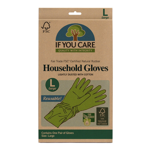 IF YOU CARE: FSC Certified Household Gloves Large, 1 ea