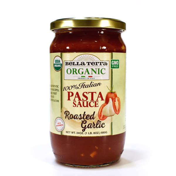 BELLA TERRA: Pasta Sauce Roasted Garlic, 24 oz