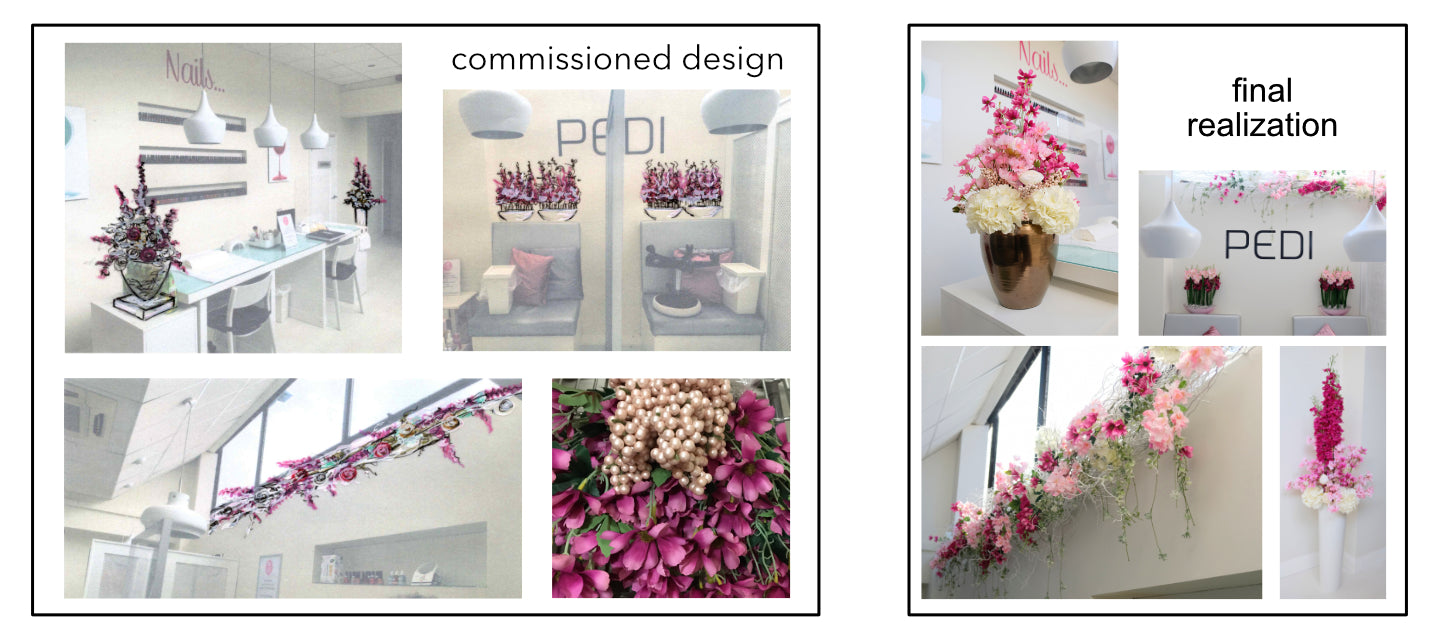 corporate flowers from commissioned design to final realization