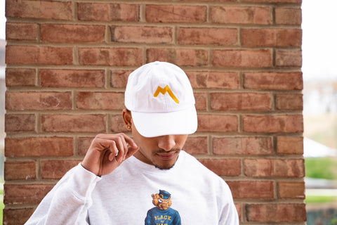 """M"" Dad Cap - White"