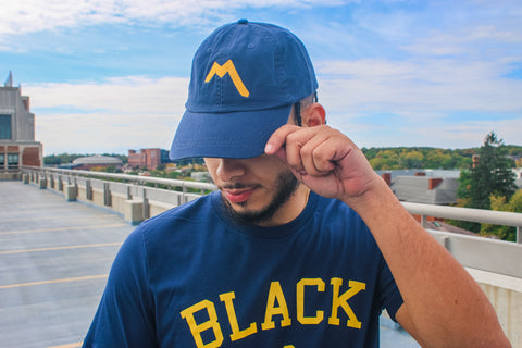"""M"" Dad Cap - Navy"