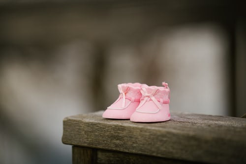 Newborn Baby Shoes in Pink