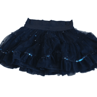 Navy Blue Ra-Ra Skirt with Sequins - Girls 6-7yrs