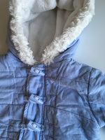 Blue and White Baby Boy's Duffle Coat - Boys 9m