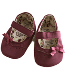 George Purple Dolly Style Slip on First Shoes Baby Girl