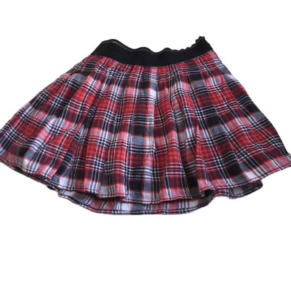 Tartan Red Check Autumn Winter Skirt - Girls 9-10yrs