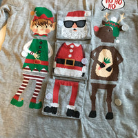 Nutmeg Boys Ho Ho Ho Grey L/S Christmas Top with fun flap design - Boys 3-4yrs