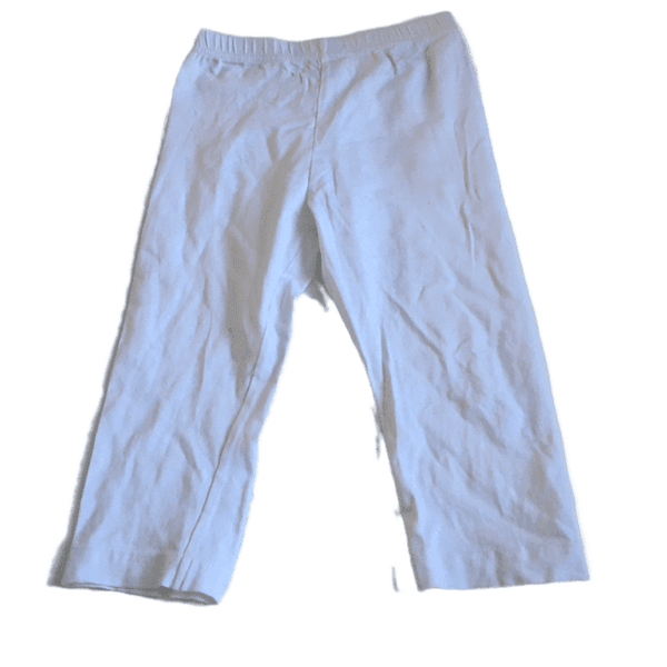 Plain White Leggings - Girls 7-8yrs