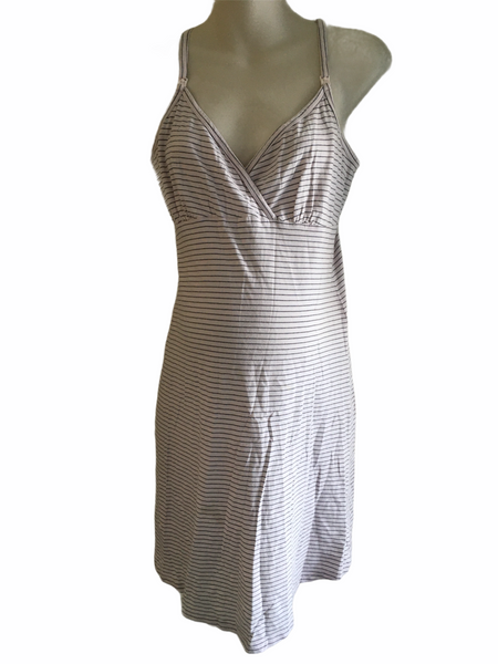 M2B at Mothercare Pink Striped Camisole Nightie - Size Maternity S UK 8-10