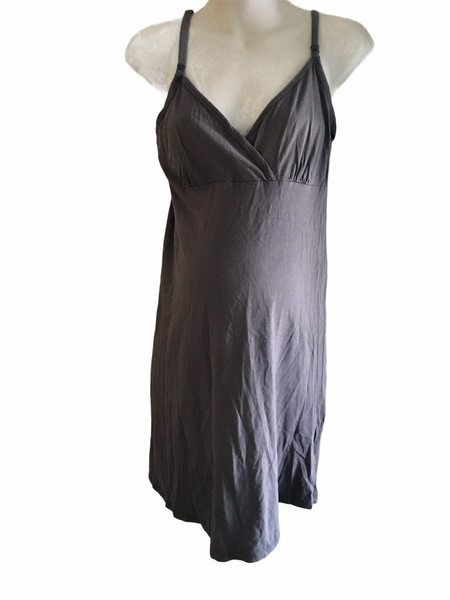 M2B at Mothercare Grey Camisole Nightie - Size Maternity S UK 8-10