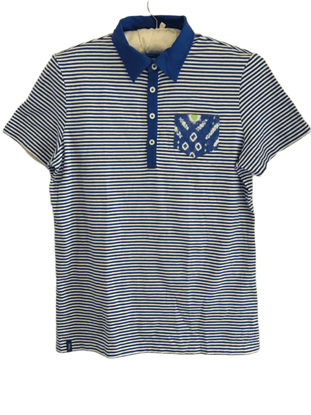 Ralph Lauren Polo Golf Tailored Fit Blue Stripe T-Shirt - Boys 13yrs