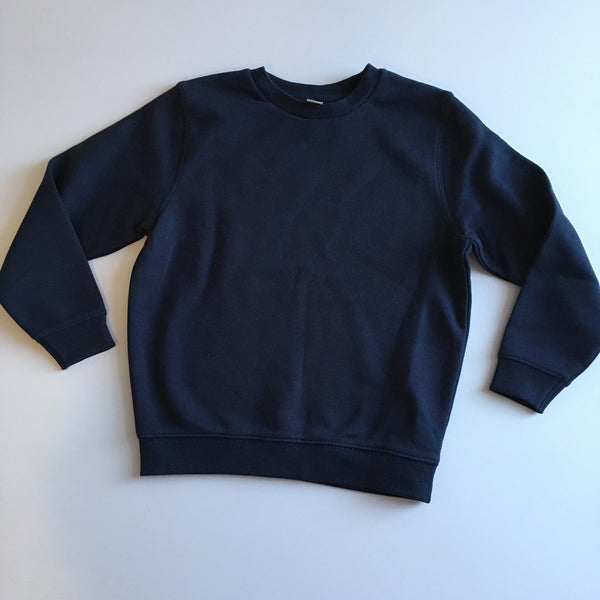 Tu Navy Blue Plain School Sweatshirt Jumper - Unisex 6yrs