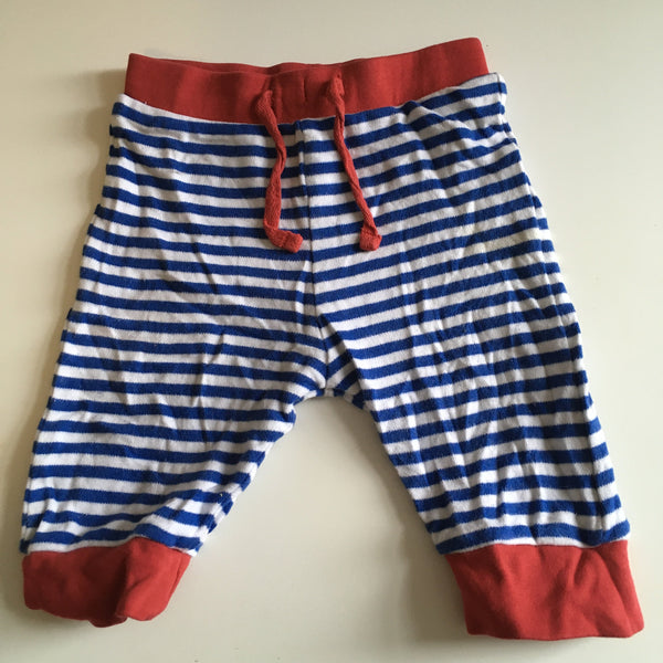 Babaluno Baby Boy Blue and Red Stretch Trousers - Boys 3-6m