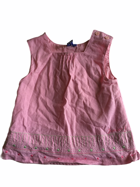 Junior J by Jasper Conran Girls Pink Linen Summer Dress - Girls 9-12m