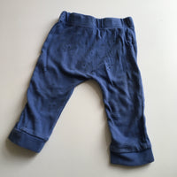 F&F Boys Blue Soft Jersey Trousers with Bear and Hearts Print - Boys 6-9m