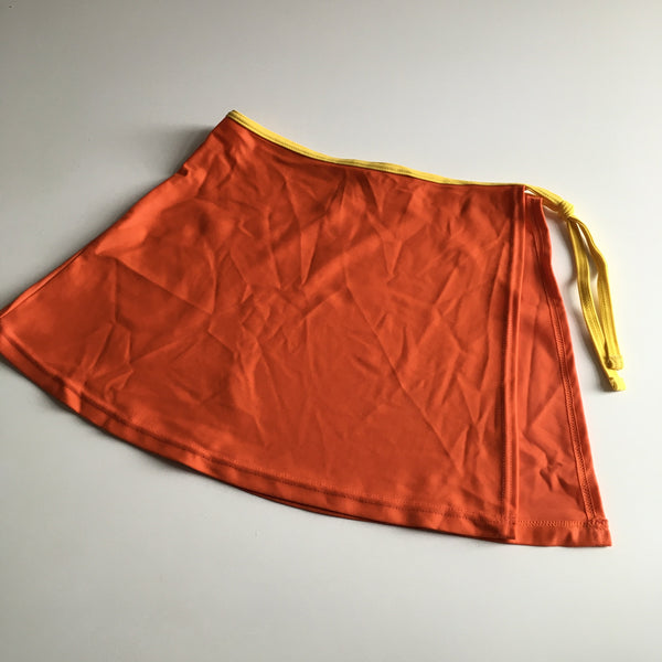 BHS Girls Orange & Yellow Swim Sarong Skirt with Tie - Girls 9-10yrs