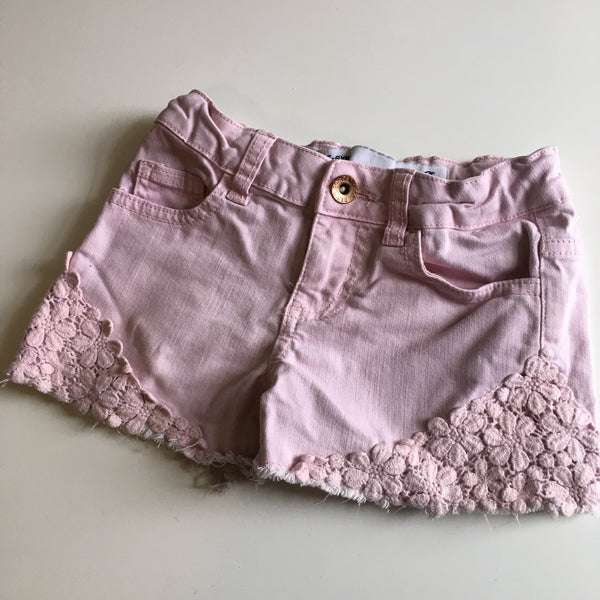 Denim Co Girls Pink Denim Summer Shorts - Girls 5-6yrs