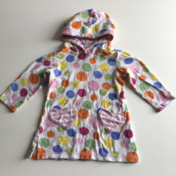 Next Girls Multicoloured Spotty Hooded Beach Towelling Dress - Girls 12-18m