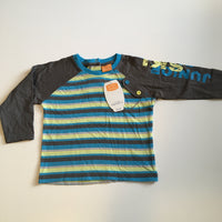 Brand New Mini Mode Junior Ski Champ Boys Striped L/S Top - Boys 12-18m