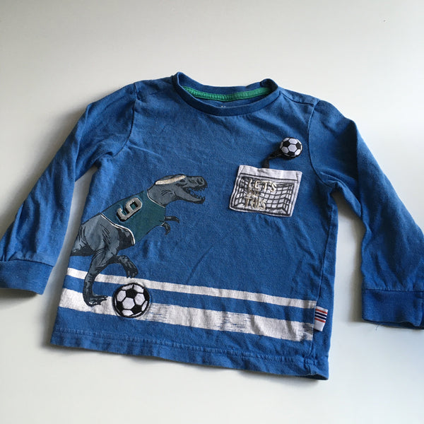 Nutmeg Dinosaur Football Let's Do This Blue L/S Top - Boys 18-24m