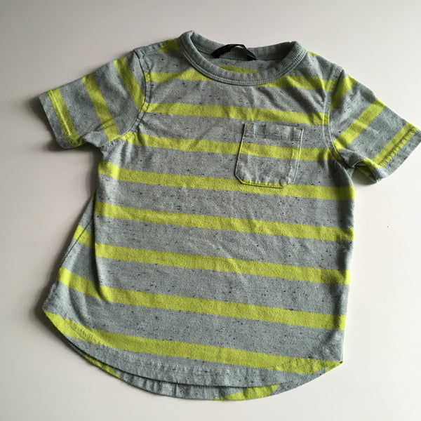 George Green/Yellow Speckled Stripe T-Shirt - Boys 18-24m
