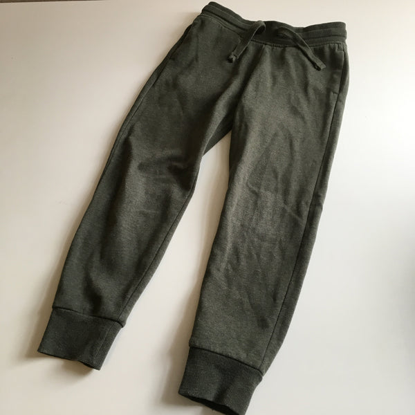 H&M Basic Organic Cotton Khaki Green Stretch Jogging Bottoms - Unisex 6-7yrs
