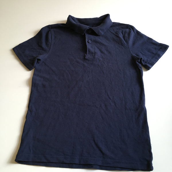 F&F Navy Blue S/S Polo Shirt - Unisex 9-10yrs