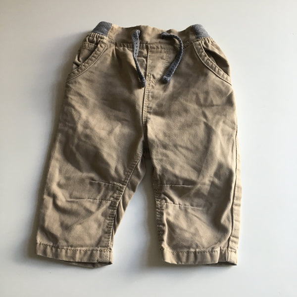 Early Days Tan/Grey Stretch Chino Trousers - Boys 3-6m