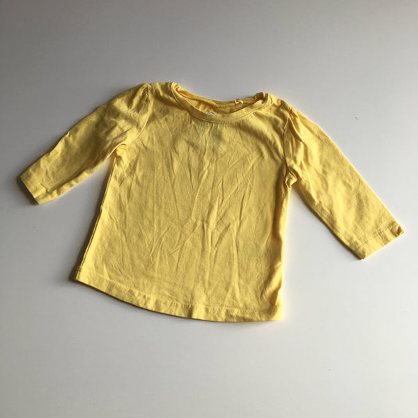Next Plain Yellow L/S Top - Unisex 3-6m