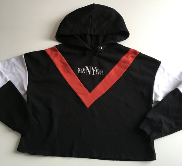 New Look New York Circa 1998 Black/Red/White Hoodie Jumper - Unisex 14-15yrs