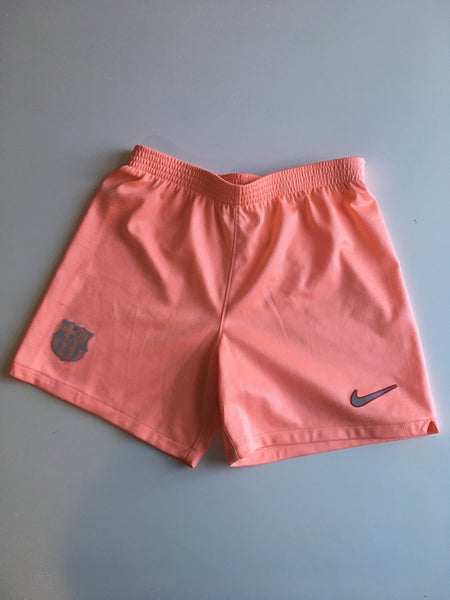 Nike Girls Coral Pink Stretch Sports Shorts - Girls 6-7yrs
