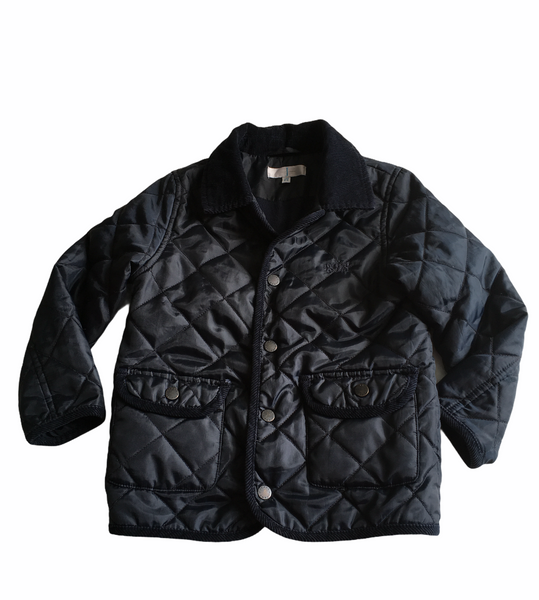 Jasper Conran Boys Navy Blue Quilted Jacket with Fleece Lining - Boys 5-6yrs