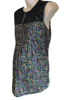Papaya Maternity Navy Floral Print Long Length Cotton Sleeveless Tunic Top - Size Maternity UK 14