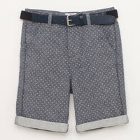 J by Jasper Conran Boys Blue Textured Shorts with Belt