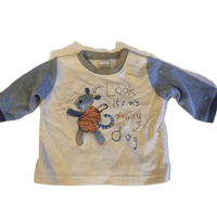 Look it's my Funny Dog Baby Boys L/S Top - Boys 0-3m