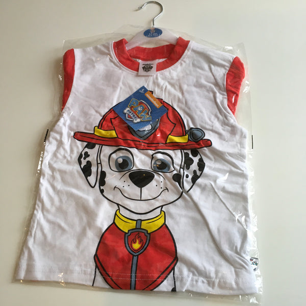 Brand New Paw Patrol Marshall Official Boys T-Shirt - Boys 4-5yrs