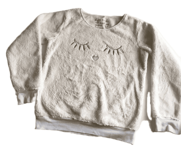 Next Girls White Night Kisses and Bedtime Wishes Soft L/S Pyjama Loungewear Top - Girls 14yrs