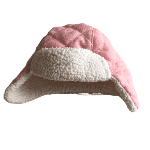 Pink Aviator Style Fleece Hat and Mittens Set - Girls 3-6m