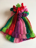 Hand Knitted Colourful Girls Winter Bobble Hat - Younger Girls