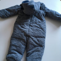 Up Up and Away Winnie The Boy Disney Boys Blue/White Snowsuit Pramsuit - Boys 6-9m