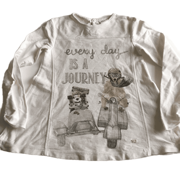 Cream Every Day is a Journey L/S Top - Girls 6yrs