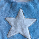 Light Blue Cosy Soft Pyjama Top with White Star - Boys 7-8yrs