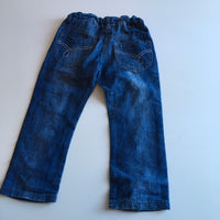 Primark Girls Blue Lightweight Denim Jeans with adjustable waist - Girls 3-4yrs