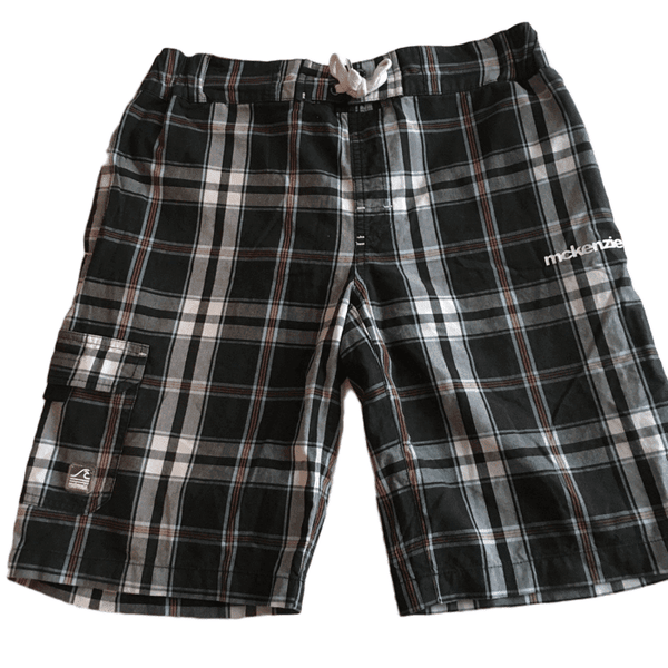 Mckenzie Boys Checked Swimming Shorts - Boys 14-16yrs