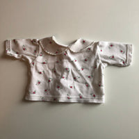 Tiny Baby Girls Floral Top with Collar- Girls Tiny Baby/Newborn