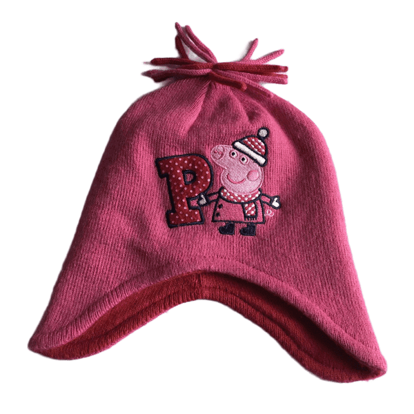 Matalan Peppa Pig Pink Girls Winter Hat - Girls 2-4yrs