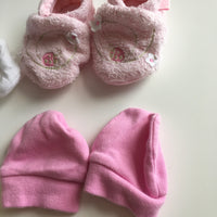 Bundle of Scratch Mitts and Booties - Baby Girls 0-3