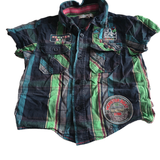 Monster Beat Checked s/s Shirt - Boys 2-3